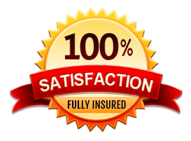 100% satisfaction label